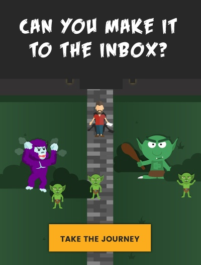 Static image of halloween email
